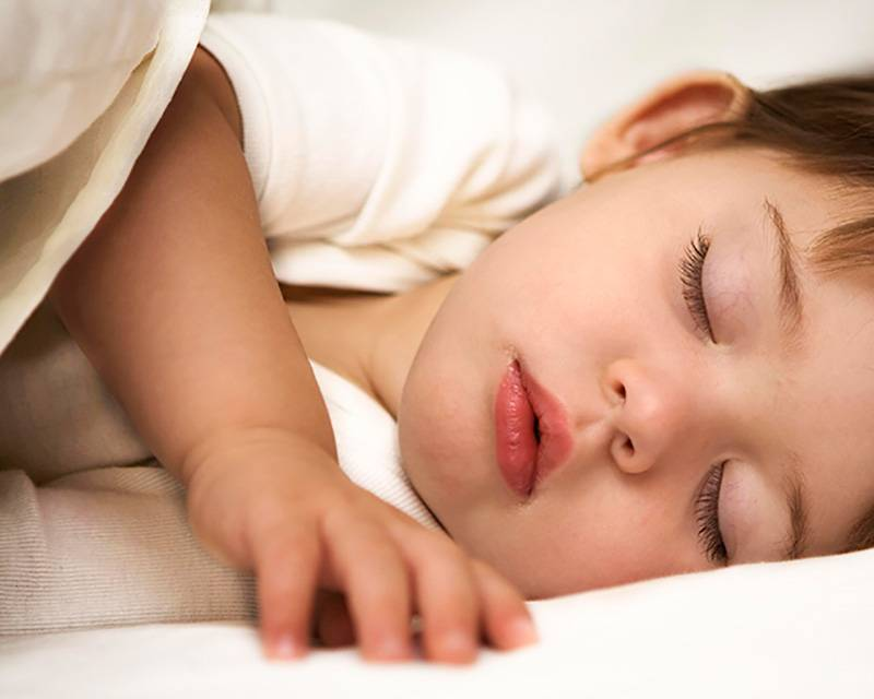 Mientras duermen, los niños crecen