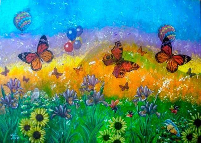 La primavera (Stefania Piras, pintura)